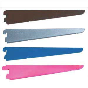 Spur Shelving | Spur Brackets & Uprights  | Office Shelving | Wall Shelving | DIY Shelving | Industrial Shelving | Spur Steel-Lok ZZSLBH14**PC Gloss Aluminium/Silver,Brown,Royal Blue,Pink