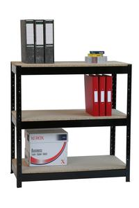 Garage / Industrial rapid build shelving with big chipboard shelves ZZHT3BK094A09545 Standard