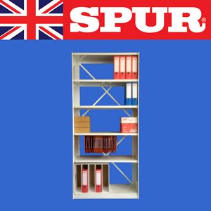 Spur Shelving | Spur Brackets & Uprights  | Office Shelving | Wall Shelving | DIY Shelving | Industrial Shelving | Spur Steel-Lok RESTART400080019005 Office Grey Ral 7035