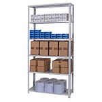 Zamba Medium Duty Dotted tm Angle post steel Shelving - MD Bolted 6 Tier 1.jpg