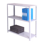 Zamba Medium Duty Dotted tm Angle post steel Shelving - MediumDutyBolted3ShelfGr.jpg