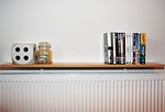 Energy Saving Radiator shelves Radiator Shelf Brackets No Drill and eco friendly - Radiator Bracket.JPG