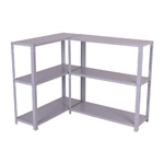 Greenhouse & Garden Shed Shelving scrolled exterior & wrought iron wall brackets - Std3BoltedTwinDGr.jpg