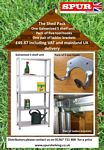Greenhouse & Garden Shed Shelving scrolled exterior & wrought iron wall brackets - shed pack 1 leaflet  image.jpg