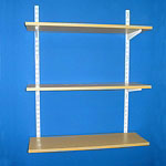 Oak MFC wall mounted shelving