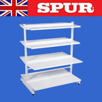 Spur Steel-lok DS2  freestanding Gondola library / retail shelving
