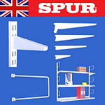 Spur Shelving white wall mounted cantilever shelving uprights Spur brackets & bookends